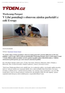 9.9.2016 Týden - V Libé pomáhají s obnovou zámku parketáři . . .