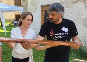 Astrid Huber-Reichl (BDA) & René Caran (Workcamp Parquet)